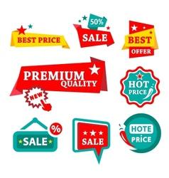 sale discount badges vector image vector image