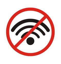 no signal sign no signal area no wi fi area vector image