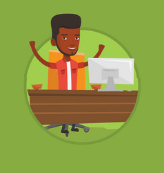 successful business man vector image vector image