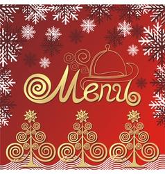 Winter menu vector image