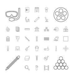 37 equipment icons vector