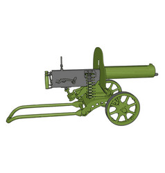 3d on white background a green military cannon vector