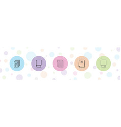 5 publish icons vector