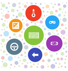7 control icons vector