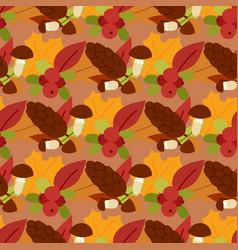 autumn berries seamless pattern vegetarian vector image