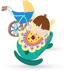 Baby resize vector image