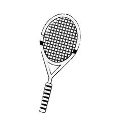 Badminton racket isolated vector