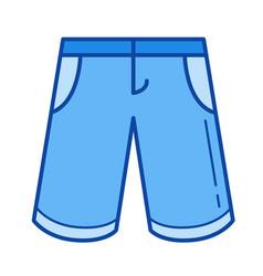 bermuda shorts line icon vector image