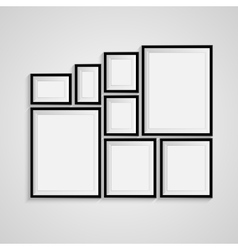 Black blank picture Frame template poster vector image