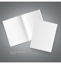 Book Magazine Template vector image