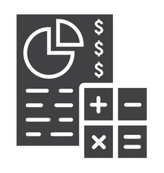 Budget planing glyph icon business and finance vector