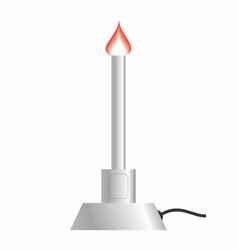 bunsen burner vector image