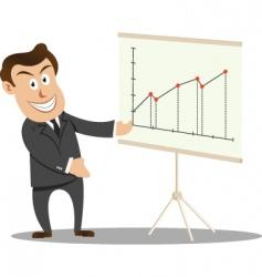 businessman at presentation vector image