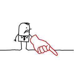 Businessman with pointing finger down vector