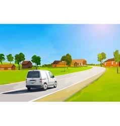 Car travel at countryside vector image