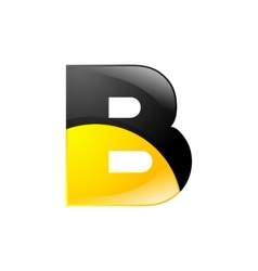 Creative yellow and black symbol letter B for your vector
