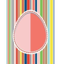 Decorative paper egg vector