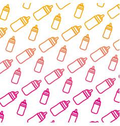 degraded line plastic bottle feeding object vector image