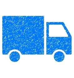 Delivery Van Grainy Texture Icon vector