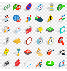 Device icons set isometric style vector