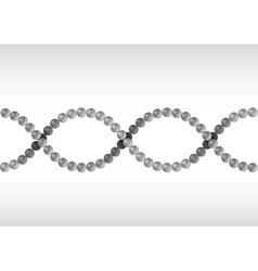 dna grey vector image