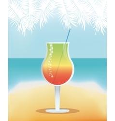 Drink menu cocktail restaurant bar design vector
