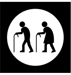 elder people icon vector image
