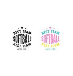 Emblem softball team for t-shirt vector