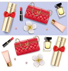 female accessories double set 1 vector image