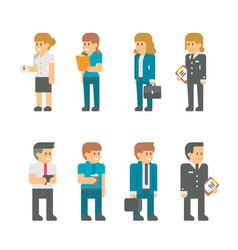 flat design business staffs vector image