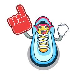 foam finger sneaker mascot cartoon style vector image