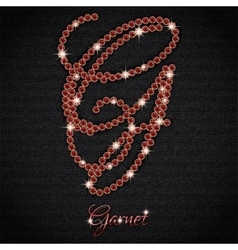Garnet on black denim vector