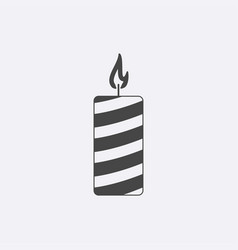 gray candle icon isolated on background modern fl vector image