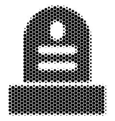 Halftone dot grave icon vector
