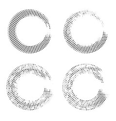 halftone dots in circle form abstract geometric vector image