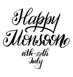 Happy monsoon day vector