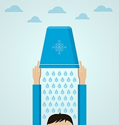 Ice Bucket Challenge Flat vector