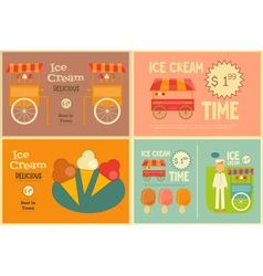 Ice Cream Cards Set vector