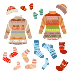 knitted clothing vector image