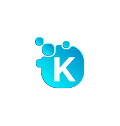 letter k bubble logo template or icon vector image