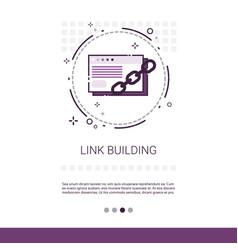 link building seo keywording search banner vector image