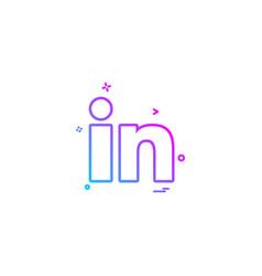 linkedin icon design vector image