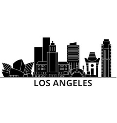 Los angeles architecture city skyline vector