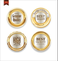 luxury sale golden labels collection 3 vector image