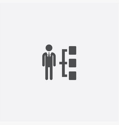 man structure icon vector image
