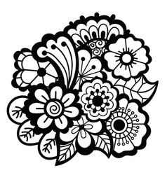Mehndi design floral pattern vector