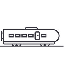 modern train line icon sign vector image