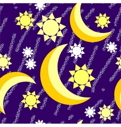 moon night grunge seamless texture vector image