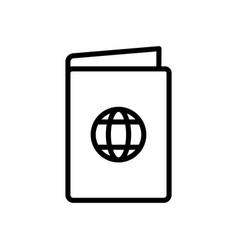 passport travel icon vector image