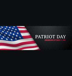patriot day horizontal banner 911 vector image